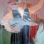 "Eva Hradil ""SP während Männerlandschaften"", 90 x 80 cm"