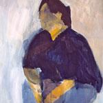 "SOLD Eva Hradil ""Tina Teufel"" 2000, Pigmente und Acrylbinder auf Leinwand, 90 x 80 cm, PRIVAT"
