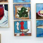 """""""Brotberuf Malerei"""" Ausstellungsansicht, Galerie Eboran Salzburg"""