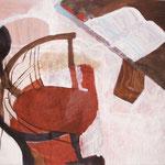 """SOLD Eva Hradil """"XXX"""" Eitempera und Öl auf Halbkreidegrund auf Leinwand, 80 x 90 cm"""