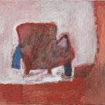 "Eva Hradil ""Jackensessel"" 2003 bis 2013, Öl auf Leinwand, 30 x 33 cm"