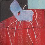 """Eva Hradil """"Verbundenheit II"""", Eitempera auf Halbkreidegrund auf Leinwand, 130 x 110 cm"""