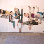 """Eva Hradil, """"21 Menschen"""", Zustandsfoto von 10 aus 21"""