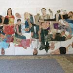 """Eva Hradil, """"21 Menschen"""", Zustandsfoto von 19 aus 21"""
