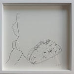"Eva Hradil, ""Knackarsch"" 2018, 30 x 30 cm"