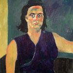 """Eva Hradil """"SP Schönberg ähnlich sehend"""" 1999, 90 x 80 cm"""