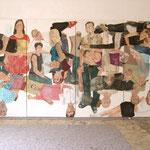 """Eva Hradil, """"21 Menschen"""", Zustandsfoto von 22 aus 21"""