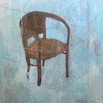 """Eva Hradil """"Hausfrauenkunst"""" 2004/2010, Eitempera und Öl auf Leinwand, 200 x 210 cm"""
