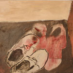 "Eva Hradil ""Schuhe im Raum"" Öl auf Leinwand 50 x 60 cm"