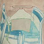 "SOLD Eva Hradil ""Abstand & Nähe"" Eitempera auf Leinwand, 90 x 80 cm"