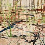 "Eva Hradil ""To Be Part of"", 2009,  Eitempera auf 49 Leinwände, 210 x 280 cm, Polyptychon"