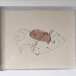 "Eva Hradil ""Dreimäderlhaus"" 2019, Serigrafie, 1/1, gerahmt 30 x 40 cm"