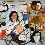 "Eva Hradil ""I, me & mine"" 2015/2016, Eitempera auf Halbkreidegrund auf Leinwand, 110 x 130 cm, im Katalog ""beziehungsweise"" abgebildet"