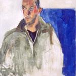 "Eva Hradil ""Nino"" 2000, Pigmente und Arcrlbinder auf Leinwand, 90 x 80 cm"