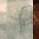 """Eva Hradil """"Fliegen können"""" 2004, Eitempera auf Leinwand, 200 x 210 cm"""