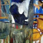 "Eva Hradil ""Jahreswechselbild 1999 2000"" 2000, Öl auf Leinwand"