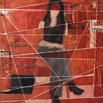 """Eva Hradil """"Lichteinfall wie bei Vermeer"""" Öl auf Leinwand 140 x 130 cm"""