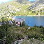 arrivo a Lago Fedaia