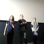 """Anne Fassio, Christophe Lambert et Fleur Lise lors de la projection de """"Ma bonne étoile""""."""