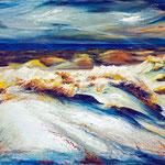 Dünen, Sylt, 100 x 80 cm, Acryl auf Leinwand, 2012, verkauft