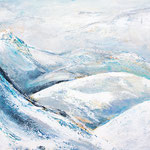 Eisige Bergwelt, Kanada, 80 x 60 cm, Acryl auf Leinwand, 2018