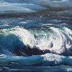 Abends am Meer, 120 x 90 cm, Öl auf Leinwand, 2013