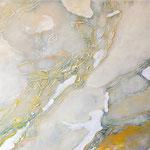 Ablagerungen, 100 x 80 cm, Acryl auf Leinwand, 2016
