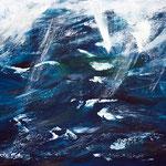 Sturm I, 70 x 60 cm, Acryl auf Leinwand, 2012