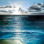 Abend am Meer, 70 x 60 cm, Öl auf Leinwand, 2012