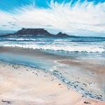 Tafelberg, 80 x80cm, Öl auf Leinwand, 2018