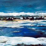 Winterlandschaft Sylt, 100 x 80 cm, Acryl auf Leinwand, 2012