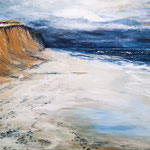 rotes Kliff, Kampen, 70 x 60 cm, Öl auf Leinwand, 2013, verkauft