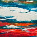 Wanderdüne Sylt, 100 x 80 cm, Acryl auf Leinwand, 2012, verkauft
