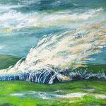 verweht, 100 x 80 cm, Acryl auf Leinwand, 2016