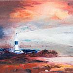 Leuchtturm, Kampen, 40 x 30 cm, Öl auf Leinwand, 2013, verkauft