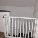 Treppe oben mit Kindersicherung im Ferienhaus Ele auf Borkum