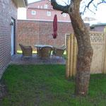 Gartenanlage im Ferienhaus Ele im Sonnenhof auf Borkum