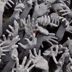 Es ragen Hände aus der Unterwelt empor
