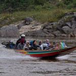 Ein Wassertaxi auf dem Mekong