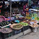 Üppiger Markt in Luang Prabang