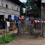 Farbige Stoffe sind ein Markenzeichen der Hmong