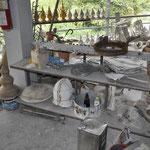 In der Werkstatt werden alle Skulpturen erschaffen