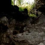 Eingang Grotte Lago Azul