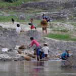 Waschtag am Mekong