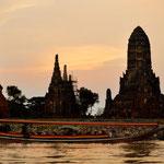 """Auf dem Fluss """"Chao Phraya"""" in Ayutthaya"""