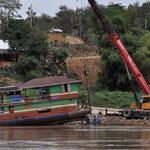 Bootswerkstatt am Mekong