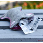 Hundekotbeuteltasche pink-grau
