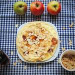 Flaumige Apfel-Zimt Pfannkuchen