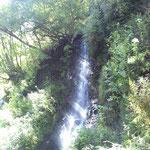 こんな滝でも湯川渓谷では水が多い方