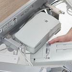 Steuerung und Akku des Puro sind für Techniker sehr leicht zugänglich.